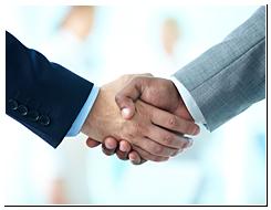Handshake Between Businessmen